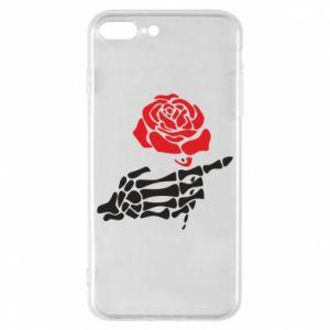 Etui na iPhone 8 Plus Rose skeleton hand