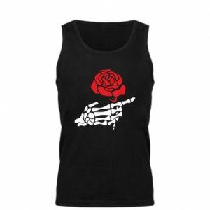 Męska koszulka Rose skeleton hand