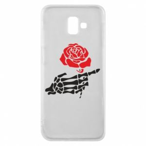 Etui na Samsung J6 Plus 2018 Rose skeleton hand