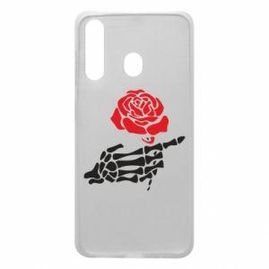 Etui na Samsung A60 Rose skeleton hand