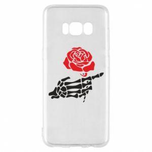Etui na Samsung S8 Rose skeleton hand