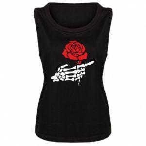 Damska koszulka bez rękawów Rose skeleton hand