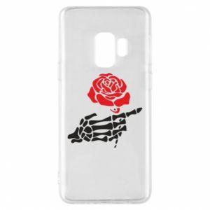 Etui na Samsung S9 Rose skeleton hand