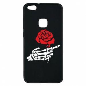 Etui na Huawei P10 Lite Rose skeleton hand
