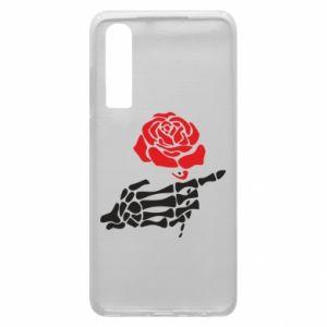 Etui na Huawei P30 Rose skeleton hand
