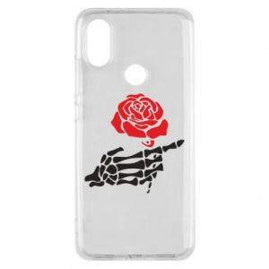 Etui na Xiaomi Mi A2 Rose skeleton hand