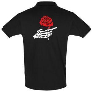 Koszulka Polo Rose skeleton hand