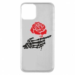 Etui na iPhone 11 Rose skeleton hand