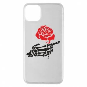 Etui na iPhone 11 Pro Max Rose skeleton hand