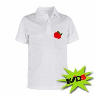 Dziecięca koszulka polo Rose with leaves - PrintSalon