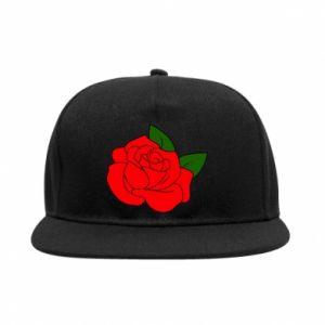 Snapback Rose with leaves - PrintSalon