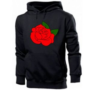 Men's hoodie Rose with leaves