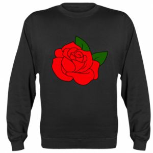 Bluza (raglan) Rose with leaves