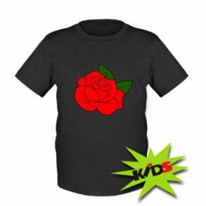 Dziecięcy T-shirt Rose with leaves - PrintSalon