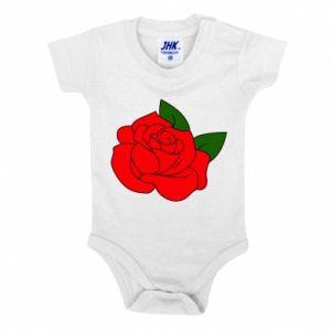 Body dla dzieci Rose with leaves - PrintSalon