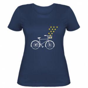 Women's t-shirt Bike and stars