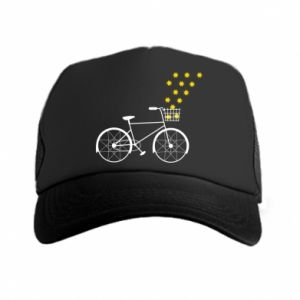 Trucker hat Bike and stars