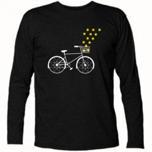 Long Sleeve T-shirt Bike and stars