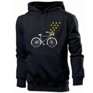 Men's hoodie Bike and stars
