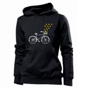 Women's hoodies Bike and stars