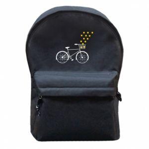 Plecak z przednią kieszenią Rower i gwiazdy