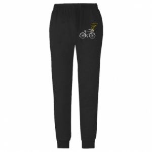 Spodnie lekkie męskie Rower i gwiazdy