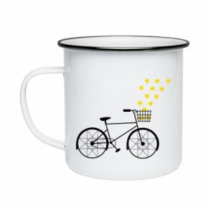Enameled mug Bike and stars