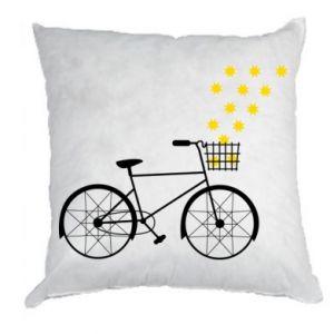 Poduszka Rower i gwiazdy
