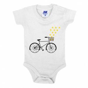 Baby bodysuit Bike and stars
