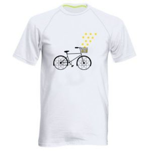Men's sports t-shirt Bike and stars