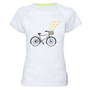 Women's sports t-shirt Bike and stars