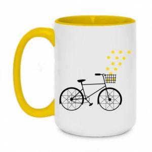 Two-toned mug 450ml Bike and stars