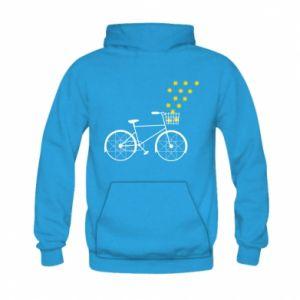 Kid's hoodie Bike and stars