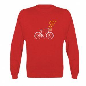 Kid's sweatshirt Bike and stars