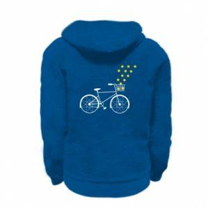 Kid's zipped hoodie % print% Bike and stars
