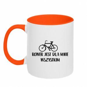 Kubek dwukolorowy Rower jest dla mnie wszystkim