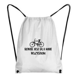 Plecak-worek Rower jest dla mnie wszystkim