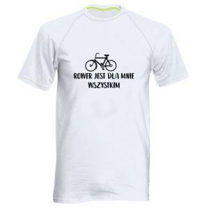 Koszulka sportowa męska Rower jest dla mnie wszystkim