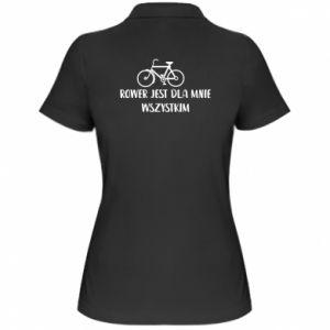 Damska koszulka polo Rower jest dla mnie wszystkim
