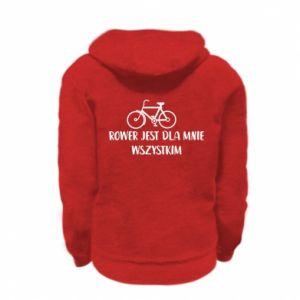 Kid's zipped hoodie % print% The bike is everything to me