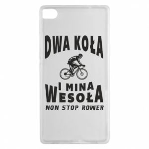 Huawei P8 Case Bicyclista rides a bicycle