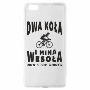 Huawei P8 Lite Case Bicyclista rides a bicycle