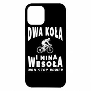 Etui na iPhone 12/12 Pro Rowerzysta na rowerze