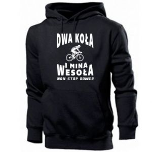 Men's hoodie Bicyclista rides a bicycle
