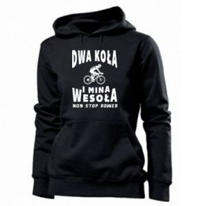 Women's hoodies Bicyclista rides a bicycle