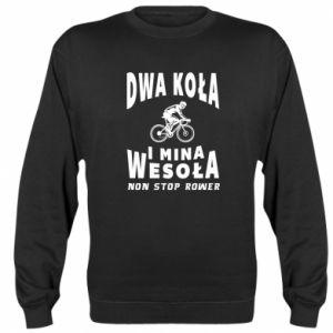 Sweatshirt Bicyclista rides a bicycle