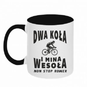 Two-toned mug Bicyclista rides a bicycle