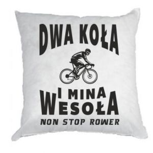 Pillow Bicyclista rides a bicycle