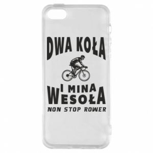 Phone case for iPhone 5/5S/SE Bicyclista rides a bicycle