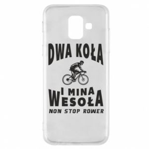 Phone case for Samsung A6 2018 Bicyclista rides a bicycle